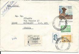 ARG015 - ARGENTINA - LETTERA AEREA DA BUENOS AIRES A ROVERETO 1977 - N 1075+1045+1043+1058 CAT. YVERT - Argentina