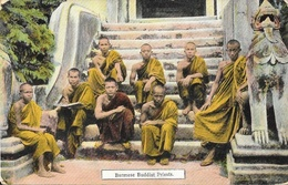 Burma Birmanie - Burmese Buddist Priests - Copyright D.A. Ahuja, Rangoon - Myanmar (Burma)