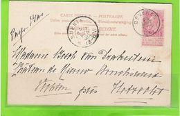 Zichtkaart Antwerpen Met OCB 58 - Afstempeling BEVEREN - COBA 4 - 1893-1800 Fijne Baard