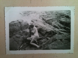 Photo - Cameroun 1953 - Au Pont Du N'Kam, Route De Nkongsamba à Bafang, Photographe Amateur En Sujet - Africa