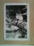 Photo - Cameroun 1953 - Ile De Manoka, Pique-nique Sur La Plage, Appareil Photo - Africa