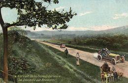 Grand Prix De France 1907 - Circuit De La Seine-Inférieure - La Descente Sur Ancourt - Attelage De Chien  -  CPA - Grand Prix / F1