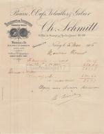 54 966 NANCY MEURTHE ET MOSELLE 1906 Beurre Oeufs Gibiers CHARLES SCHMITT Rue Saurupt ESCARGOT DE BOURGOGNE - France