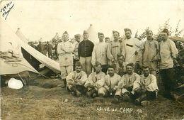 Cpa Carte Photo BOIS L EVEQUE 54 La Vie Au Camp - 1911 - Autres Communes