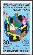 Mauritania/Mauritanie: Non Dentellato, Imperforate, Non Dentelé, Organizzazione Mondiale Della Sanità, World Health Orga - WHO