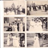 POMPEI - NAPOLI -  PRIMA COMUNIONE LOTTO DI 10 FOTO DEL 1957 CON DIDASCALIA - Lieux