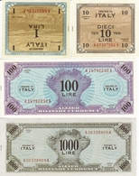 ITALY-1,10,100 1000 LIRE -UNC-FDS-COPY-RIPRODUZIONE - [ 3] Military Issues