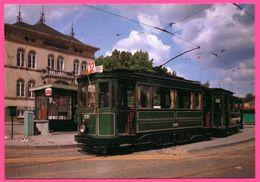 Bruxelles - Tramway - Motrice 1291 Et Remorque N° 632 - AMUTRA - 1910 - Transport Urbain En Surface