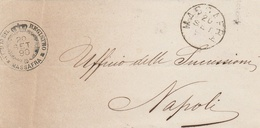 Massafra. 1890.  Annullo Grande Cerchio MASSAFRA + UFFICIO REGSITRO, Con Datario, Su Franchigia Senza Testo - 1878-00 Humbert I