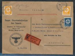 D.-Reich -Wert+Dienst  -Beleg ....   (ze8039 ) Siehe Scan - Deutschland