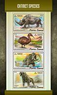 SIERRA LEONE 2018 - Extinct Rhinoceros. Official Issue. - Rhinozerosse