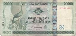 BILLETE DE UGANDA DE 20000 SHILLINGS DEL AÑO 2004 (GRULLA CORONADA) (BANKNOTE) - Uganda