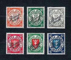 DANZIG 1924-25 - Sevizio / Francobolli Soprastampati DIENSTMARKE - 6 Valori - MH - Michel:DA D41-42-43-45-47-49 - Dantzig
