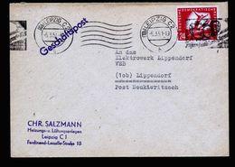 A5268) DDR Brief Leipzig 6.3.51 Mit EF Mi.281 - DDR