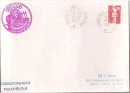 MARCOPHILIE NAVALE POSEIDON SOUTIEN NAGEURS DE COMBAT 1990 - Postmark Collection (Covers)