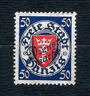 DANZIG 1924 - Servizio / Francobolli Soprastampati DIENSTMARKE - 50 Pf. Azzurro E Vermiglio - MH - Michel:DA D50 - Dantzig