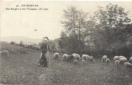 BOURGOGNE - EN MORVAN Une Bergère Et Son Troupeau - Bourgogne
