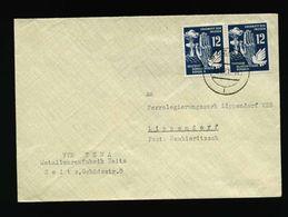 A5269) DDR Brief Zeitz 19.6.51 MeF Mi.278 (2) - DDR