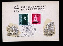 A5270) DDR 2 Sonderkarten Messe Leipzig 1956 Mit Verschiedenen Stempeln - Briefe U. Dokumente