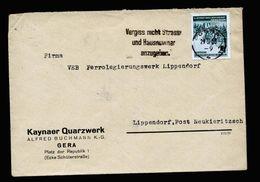 A5271) DDR Brief Gera 29.5.53 M. EF Mi.355 - Briefe U. Dokumente