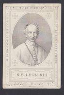 Pape Pope Léon XIII Image Pieuse Religieuse Santini Holy Card Devotieprint - Images Religieuses