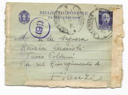 BIGLIETTO POSTALE DA 50 CENTESIMI 1943 - 5. 1944-46 Lieutenance & Umberto II
