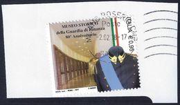 2017- ITALIA - MUSEO STORICO DELLA GUARDIA DI FINANZA - USATO SU FRAMMENTO - 6. 1946-.. Republic