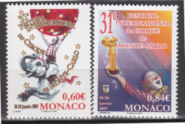 Monaco - 2006  - Festival Du Cirque -  N° 2566/2567     - Neuf ** - MNH - Monaco