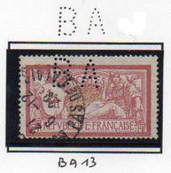 Perforé France Type Merson N°121 Perf Ref Ancoper BA 13 - France