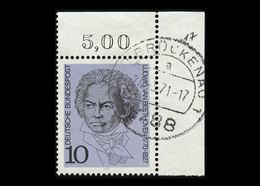 BRD 1970, Michel-Nr. 616, 200 Geburtstag L. Van Beethoven, Eckrand Oben Rechts, Gestempelt - [7] Federal Republic