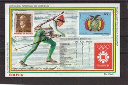 Olympics 1984 - Biathlon - BOLIVIA - S/S Imp. MNH - Winter 1984: Sarajevo