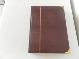 CLASSEUR BORDEAUX A BANDE BLANCHES 9 Bandes - Stockbooks