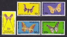 CENTRAFRICAINE AERIENS N°   69 à 73 ** MNH Neufs Sans Charnière, TB (D6035) Insectes, Papillons - Central African Republic