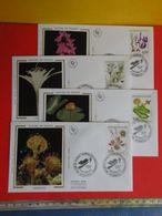 FDC> Fleurs Orchis Des Marais,Rossolis,Nénuphar Jaune,Lys De Mer > 12.9.1992 (44) Nantes < 1er Jour Coté 12€ Lot 4 FDC - FDC