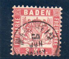 BADEN 1862-4 O - Baden