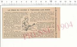 Presse 1904 Le Prix Du Sucre à Travers Les âges Confiserie Kilo 216PF10XB - Old Paper