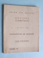 "Salon Des Artistes "" ANCIENS COMBATTANTS 1 - 19 Sept 1935 Tentoonstelling Der Kunstenaars OUD STRIJDERS ! - Livres, BD, Revues"