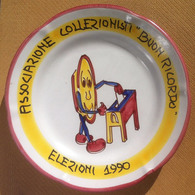 Piatto Buon Ricordo - Associazione Collezionisti - Elezioni 1990 - Obj. 'Remember Of'