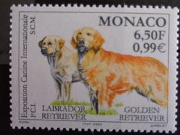 """MONACO 2000 Y&T N° 2238 ** - EXPOSITION CANINE INTERNATIONALE """" LABRADOR & GOLDEN RETRIEVER """" - Monaco"""