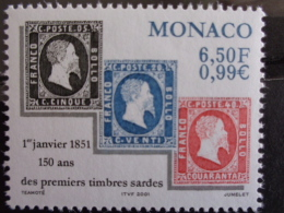 MONACO 2000 Y&T N° 2283 ** - 150e ANNIV. DES PREMIERS TIMBRES SARDES - Monaco