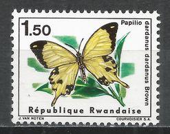 Rwanda 1966. Scott #120 (MNH) Papillio Dardanus Dardanus Brown, Butterfly * - Rwanda