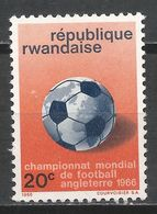Rwanda 1966. Scott #176 (M) World Soccer Cup Championship * - Rwanda