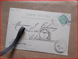 AFFRANCHISSEMENT TYPE BLANC 5 C VERT TARIF MONDE IMPRIME POUR RUSSIE SUR CPA Cachet Arrivée Russe Ekaterinbourg Oural - 1877-1920: Période Semi Moderne