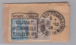 """MONACO   Oblitération Daguin  """" Monte-Carlo Climat Incomparable Tous Les Sports """" Sur Fragment - Machine Stamps (ATM)"""