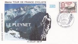 1er Jour   68ème Tour De France Cycliste  CaD Le Pleynet  Du 15 07 1981 . Victoire De Bernard Hinault - FDC