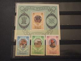 ANTIGUA - 1981 LADY DIANA, Ecc...3 VALORI + BF - NUOVI(++) - Antigua E Barbuda (1981-...)
