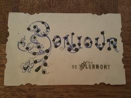 Bonjour De Clermont - Carte à Paillettes - Clermont