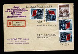 A5273) DDR R-Brief Berlin 29.6.53 Mit Propagandastempel - Briefe U. Dokumente