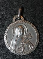 "Pendentif Médaille Argent XXe ""Sainte Rita"" Silver Religious Medal - Religion & Esotérisme"
