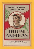 2 ANCIENNES ETIQUETTES NEUVES DE RHUM (Rhum Angolas Et Rhum Caravella) - Rhum